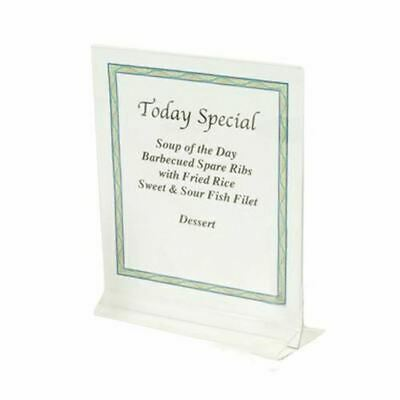 "8 1/2"" x 11"" Clear Acrylic Plastic Table Card Menu Paper Holder Display Stand"
