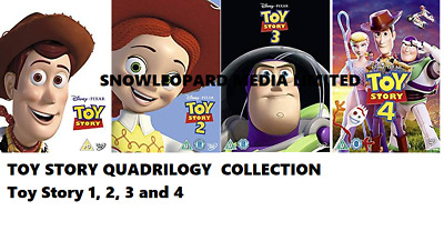 Toy Story 4 Movie Film Quadrilogy Collection Blu Ray Part 1 2 3 4 New Original