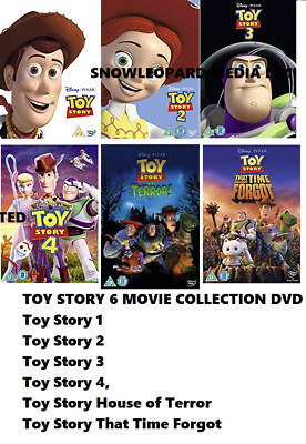 Toy Story 6 Movie Film Ultimate Collection Dvd Part 1 2 3 4 5 6 New Original