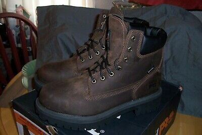 Timberland PRO Men Direct Attach Brown Work Boots STEEL TOE INSULATED Size 10