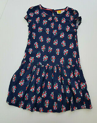 Mini Boden Navy Floral Dress Age 5-6 Yrs VGC
