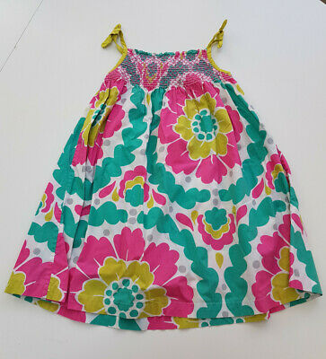 Stunning Mini Boden Floral Summer Dress Age 2-3 Yrs VGC