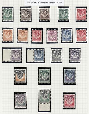 NORTHERN RHODESIA 1938-52 Complete set of 21 to - 3607