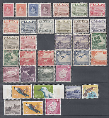 NAURU 1937-1965 Mint assembly on stockpage incl - 5465