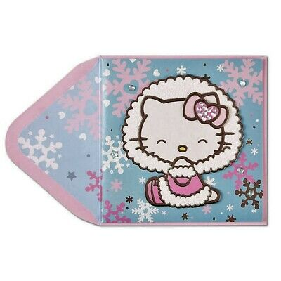 PAPYRUS Greeting Card BLANK Hipster Hello Kitty Cute and Adorable