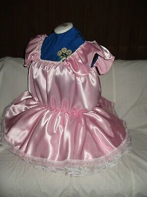 Sissy~Maids~Adult Baby~Tv/Cd~Unisex Satin & Lace Babydoll