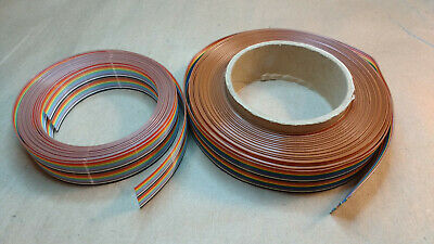"""Two rolls of Rainbow Ribbon Cable, 1"""" Wide, 20 Conductor, 0.050"""" Pitch"""