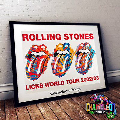 The Rolling Stones On Tour 76 Music Rock Roll Framed Poster Print 40x30cm