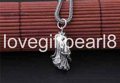 Pure S925 Sterling Silver Retro Chinese Cabbage Women's Pendant No Chain