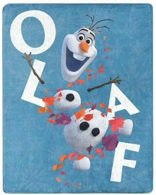 NEW Disney Frozen Leaves and Olaf Warm Super Soft Plush 40 X 50 Throw Blanket