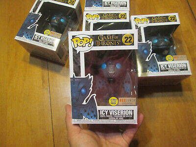 Funko Pop GAME OF THRONES ICY VISERION # 22 GITD GLOWS IN THE DARK BOX LUNCH