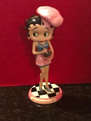 """Betty Boop Danbury Mint Figurine """"Let's Stir Something Up"""" Mixing A Bowl!! 💕💕"""