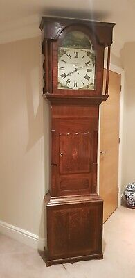 Antique longcase grandfather clock Blakeborough Keighly