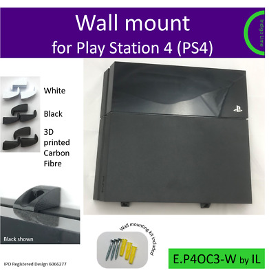 Play Station 4 Original PS4 - Eco wall bracket mount. Made in the UK by us