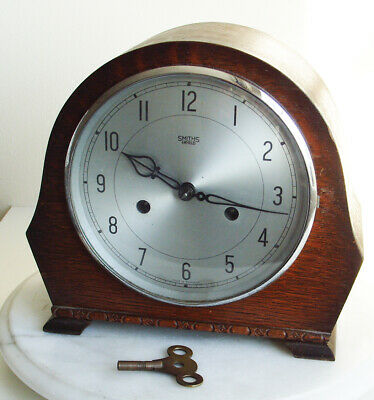 Smiths Enfield 8 day Chiming Mantle Clock c.1955 GWO