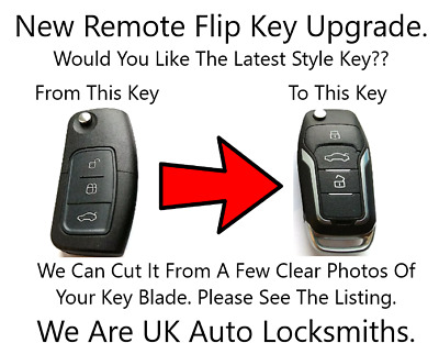 New Remote Flip Key Fob Upgrade 433Mhz Fits Ford Fiesta Mondeo C-max ID63 Chip