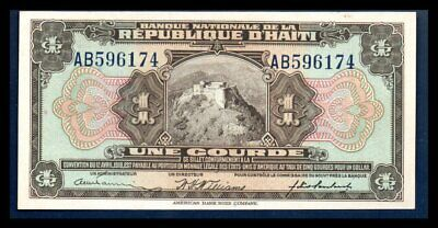 Haiti UNC Note 1 Gourde ND 1925 P-160