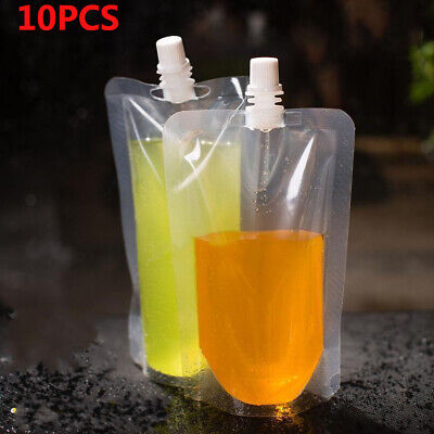 Coffee Juice Packaging Milk Liquid Stand Bag Spout Pouch Storage Sauce Food