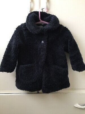 Next Girls Blue Teddy Bear Jacket Size 1.5 Years-2years