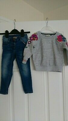 Girls Next outfit jumper and jeans 2-3 Years