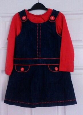 Girls Next Outfit denim Dress And Long Sleeve top 2-3 Years