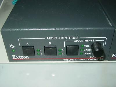 extron rac 104 Four Channel Volume and Tone Remote Audio Controller