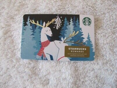 Starbucks Holiday 2019 Reindeer Gift Card With Receipt/ Sleeve- $5 Loaded - New