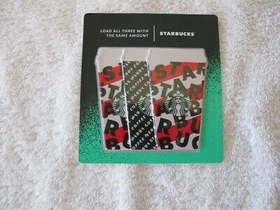 Starbucks 2019 Holiday Gift Cards - Set Of Three In Package - $15 Total Value