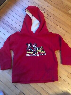 Walt Disney World Minnie Mouse Girls Pullover Sweatshirt Hoodie Jacket Sz XS S