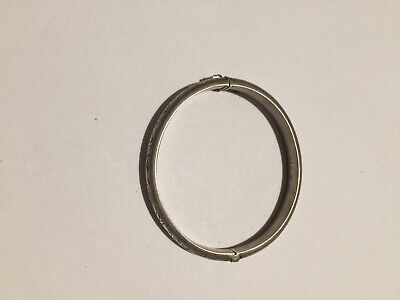 Hallmarked ORELLA Vintage Sterling Silver Bangle By S&E Chester 1957 12g
