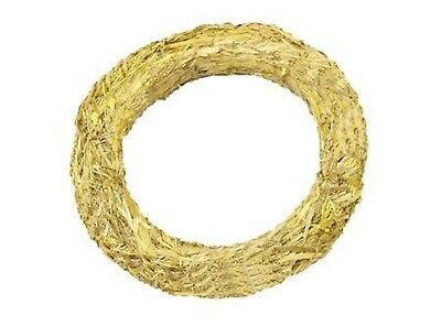 3 x Natural Straw Christmas Wreath base ring 25cm, make your own, craft, holly