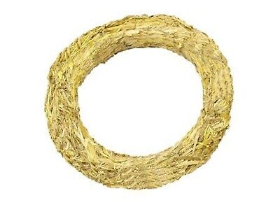 10 x Natural Straw Christmas Wreath base ring 25cm, make your own, craft, holly
