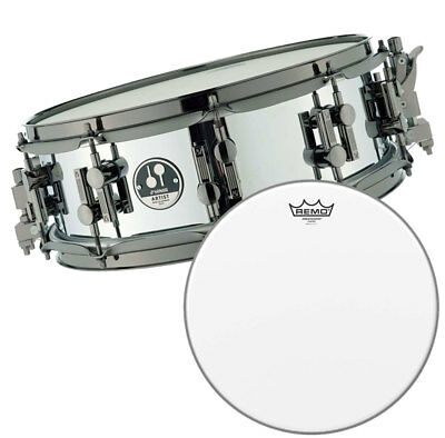 """Sonor As 12 1405 Sb Steel Caisse-Claire + Remo Ambassador Fell 14 """""""