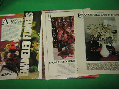 Floral Crafts Instructions 4 Magazine Articles- Flower Making