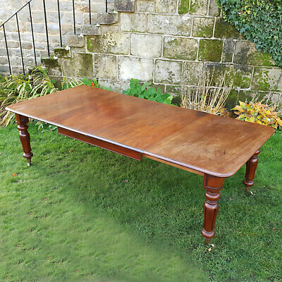 "Early Victorian Large 8'5"" Mahogany Extending Dining Table C1840"