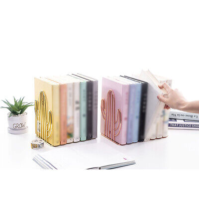 Cactus Shaped Metal Bookends Book Ends Home Office Stationery Supplies