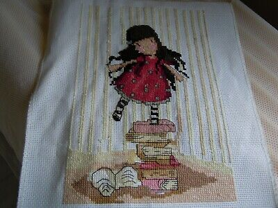"""completed cross stitch 14count """"Georgous"""""""