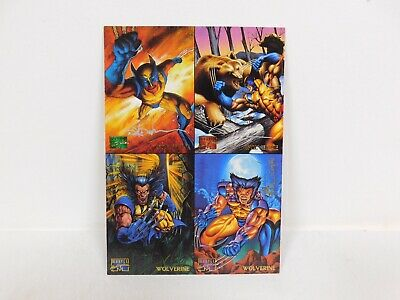 Signed 1995 MARVEL MASTERPIECES Trading Card UNCUT Store Promo Sheet WOLVERINE
