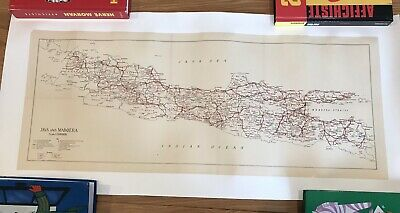 Antique Map Of Java / Indonesia linen backed