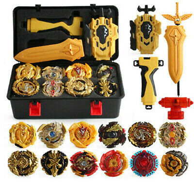 12Pcs Beyblade Gold Burst Evolution Set Spinning Grip Arena Launcher Battle Toy