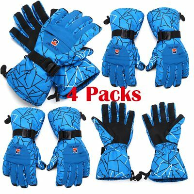 4pair Men Winter Snow Cycling Skiing Gloves Waterproof Outdoor Sports Thermal Zy