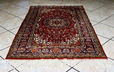 Oriental Asian Chinese Hand Knotted Wool Area Rug 6ft x 3ft Label, Date