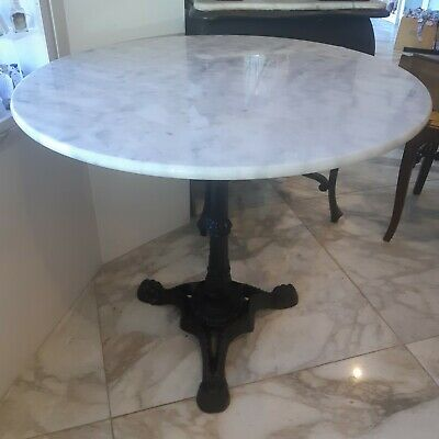 Carrara Marble top Table only 80cm diameter Indoor or Outdoor DELIVERED Sydney