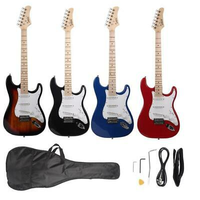 """New Glarry 39"""" GST Maple Fingerboard Right Handed Electric Guitar with Bag"""