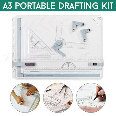 AU A3 Drawing Board Adjustable Angle Drafting Table Tool With Parallel Motion