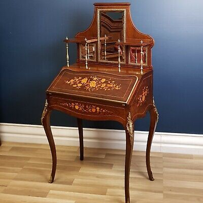 Louis XVI Antique French Marquetry and Rosewood Ladies Desk, Restored Circa 1880