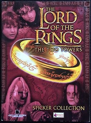 LORD OF THE RINGS - The Two Towers, Sticker Book & 14 Stickers, 2002, Merlin