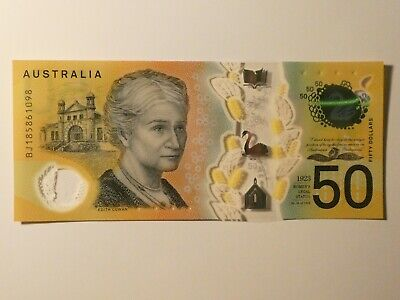 Australian $50 new note - Uncirculated Condition - BJ185861098 Spelling Mistake