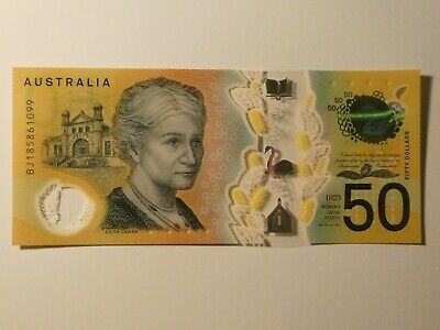 Australian $50 new note - Uncirculated Condition - BJ185861099 Spelling Mistake