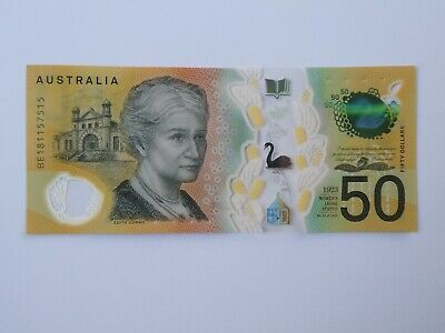 Australian $50 new note - Uncirculated Condition - BE181157515 Spelling Mistake
